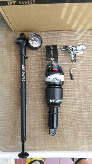 Amortiguador DT-SWISS R414 + mando remoto + Bomba.