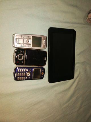 teléfonos y tablet