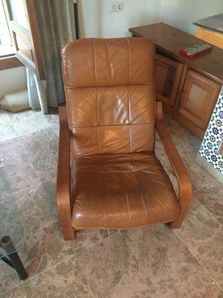 Mecedora sillón de piel