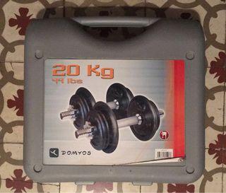 Mancuernas (Dumbbells) Domyos 20kg (44lbs)