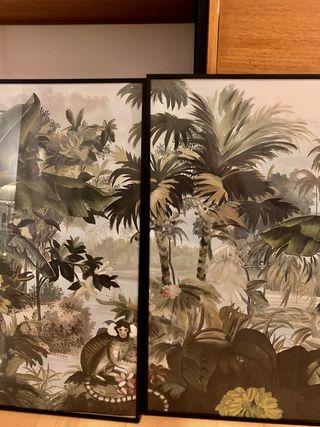 Cuadro / conjunto cuadros con láminas