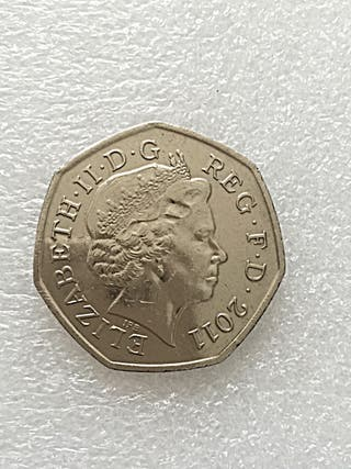 50p coin boccia London Olympic Games 2001.