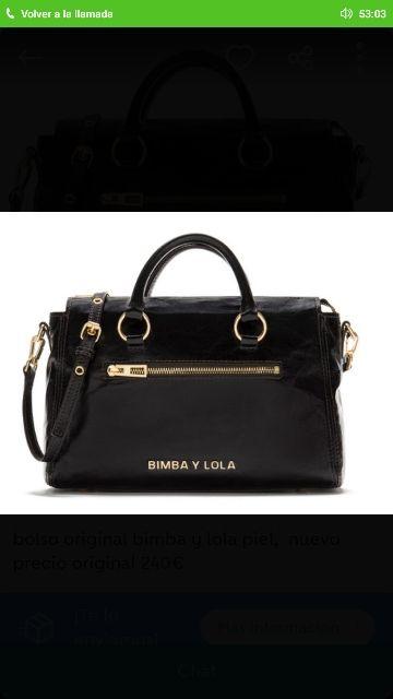 Bolso original Bimba y Lola piel negro