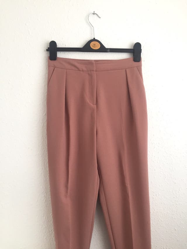 Pink Topshop cigarette trousers