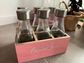 Botellero botellas boda deco