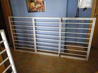 Rejas aluminio 2,23 x 1,09