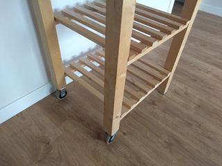 carrito estantería madera ikea buen estado