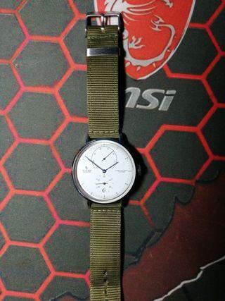 reloj automático vintage japonés cristal curvo