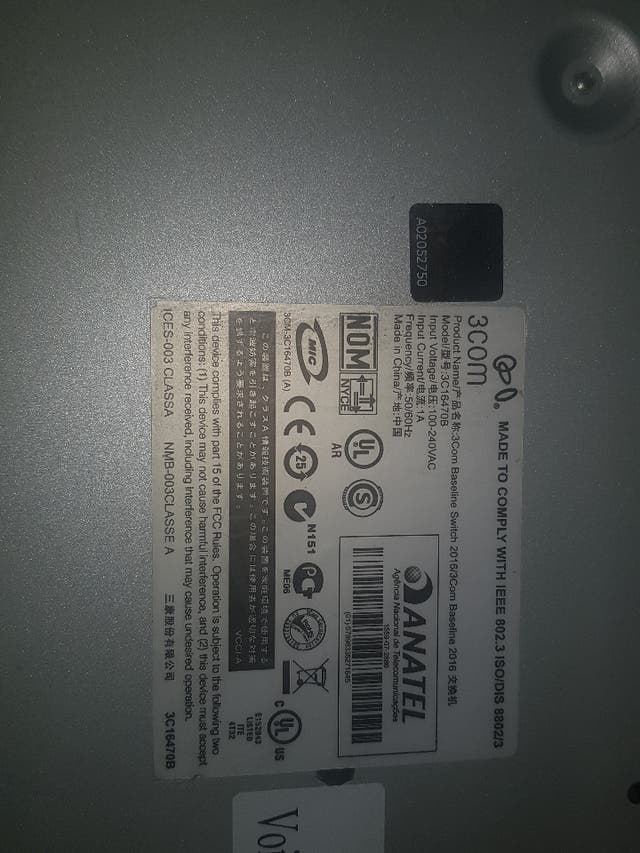 switch 3COM 16 puertos 3C16470B