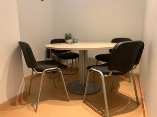 Conjunto mesa reuniones y 4 sillas