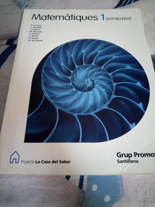 Llibre de matemàtiques 1er batxillerat Santillana