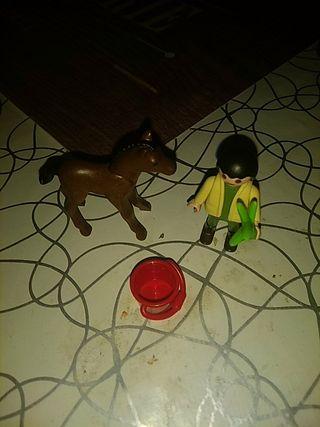 Playmobil niño con pony