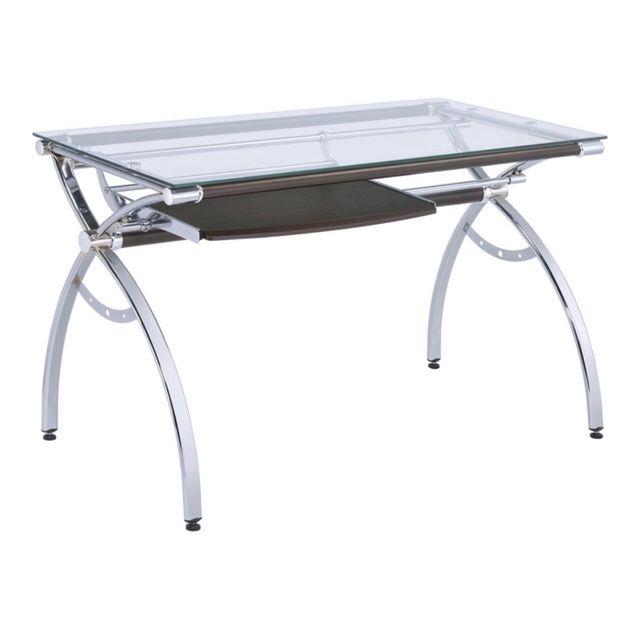 Mesa escritorio de cristal pointer el corte ingl s de for Mesas de escritorio el corte ingles