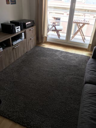 Confortable tapis poils longs
