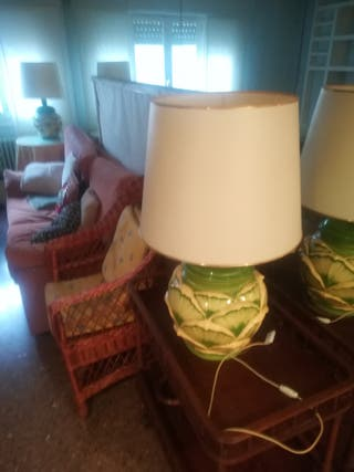 Vendo 2 lámparas de sobremesa de porcelana