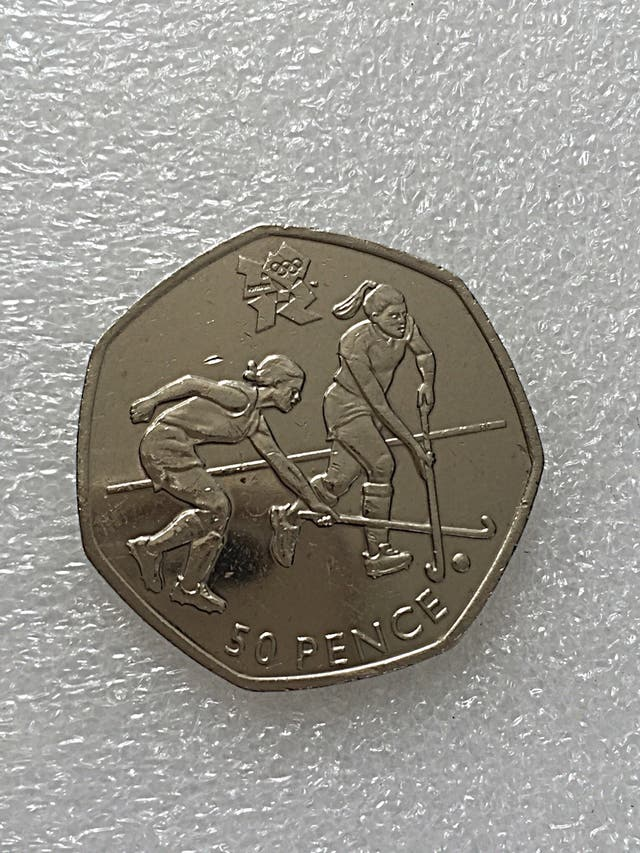 50p coin hockey Olympic Games 2011.
