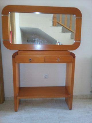mueble recibidor+ espejo