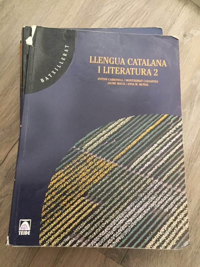 Libro bachillerato Lengua catalana y literatura