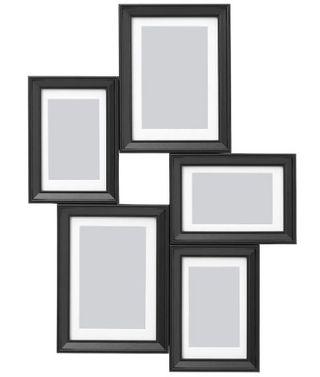 Marco 5 fotos, negro (IKEA)