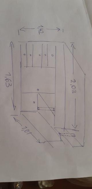conjunto: sinfonier, armario, cama y zapatero