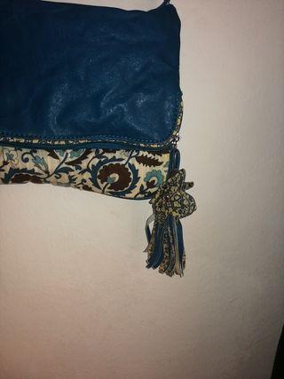 Bolso reversible de tonos azules