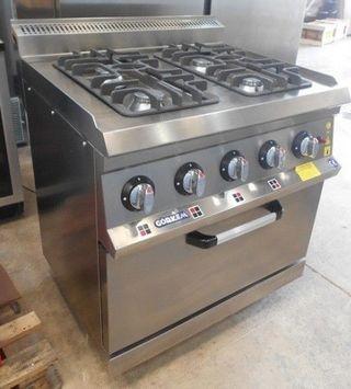 Cocina de 4 fuegos con horno linea 700