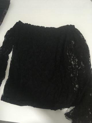 Blusa manga larga mangas anchas
