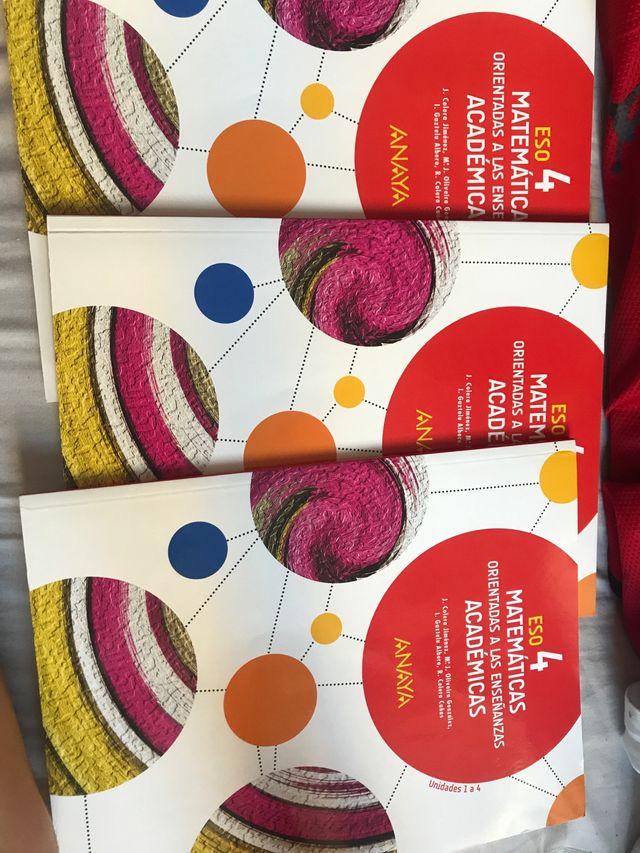 Libros matematicas cuarto 4 eso de segunda mano por 20 € en ...