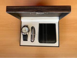 Set regalo Reloj+Cartera+Navaja