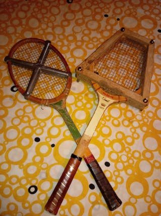 Raquetas de tenis antiguas.