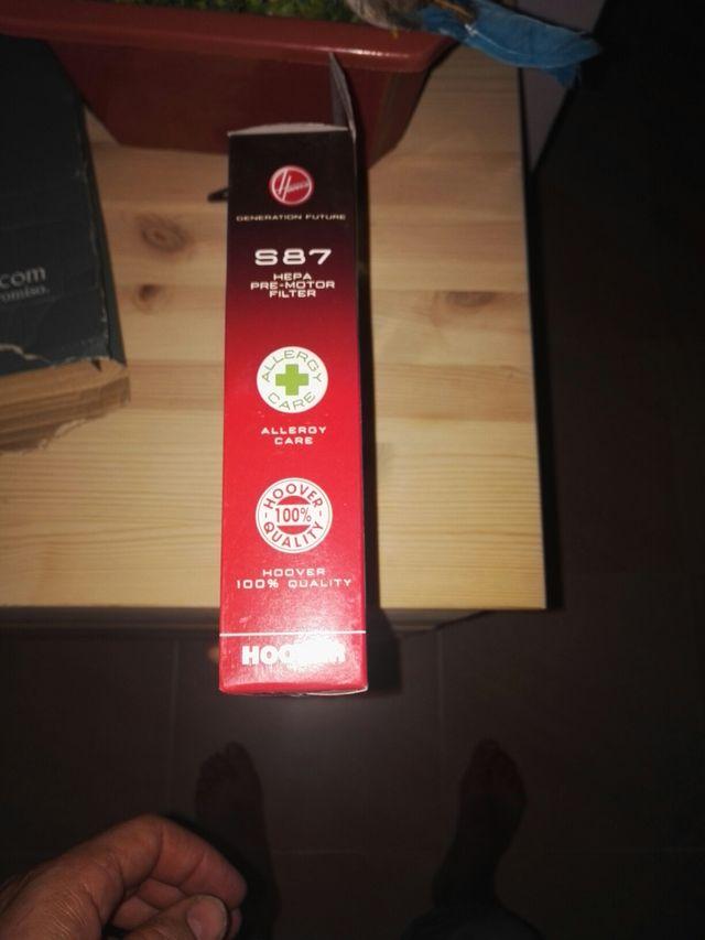 1 filtro hepa S87 y 1 bolsa H60