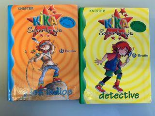 "2 Libros de ""Kika Superbruja"""