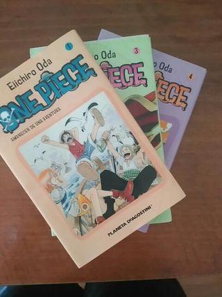 One Piece 1, 3 y 4 (Cómic, Manga)