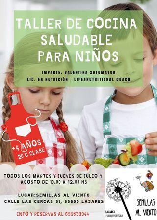 Clases de cocina saludable para niños