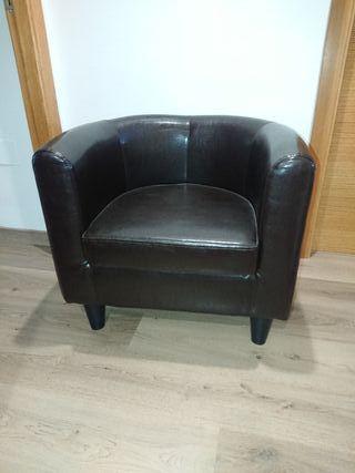 sillón imitación piel