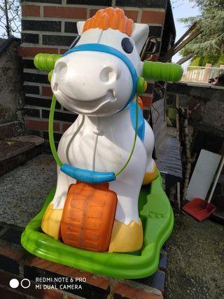 caballo musical balancín de Feber