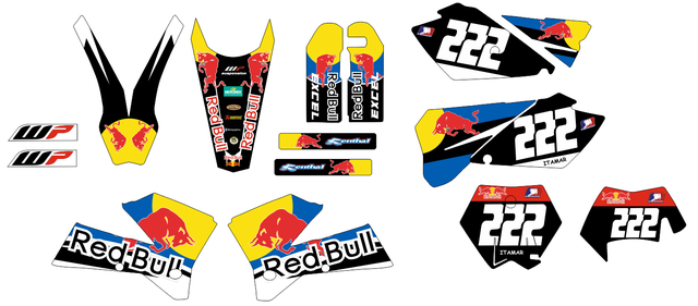 Kit de adhesivos KTM 2005-2007 EXC