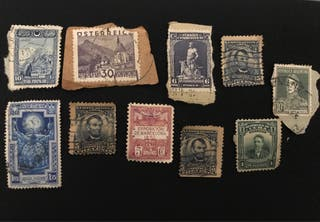 Lote de sellos postales antiguos