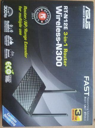 Asus RT-N12E Router/Punto de Acceso/Repetidor WiFi