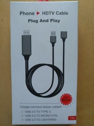 cable HDMI ADAPTADOR IPHONE/ IPAD