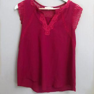 Camisa rosa fucsia