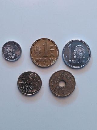 Lote 5 monedas