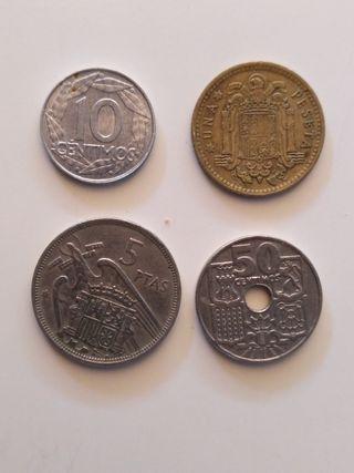 Lote 4 monedas de Franco