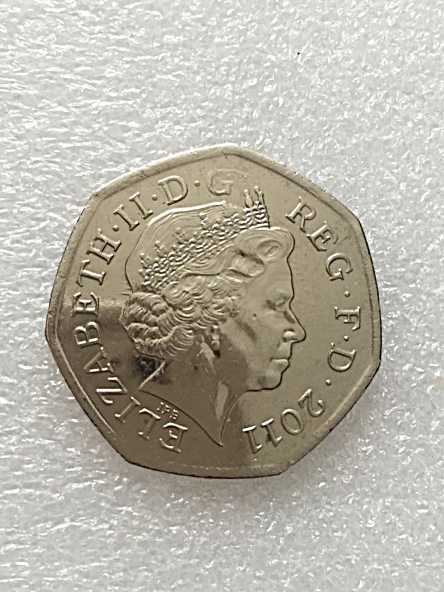 50p coin wheelchair London Olympic Games 2011.