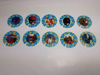 coleccion completa tazos power rangers