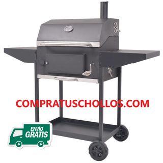 Barbacoa-Ahumador de Acero para Carbón 127x64x125