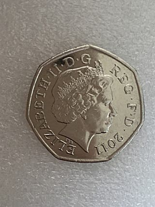 50p coin rowing London Olympic Games 2011.
