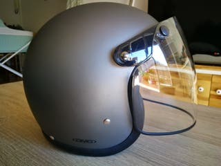 Casco retro DMD gris mate