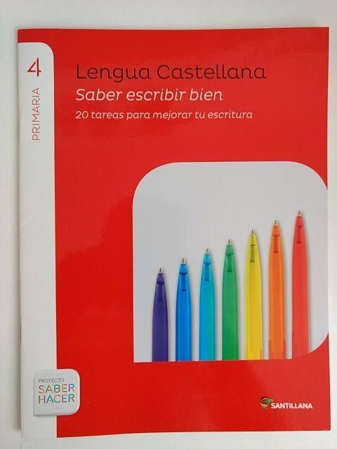 Cuaderno lengua castellana cuarto de primaria de segunda ...