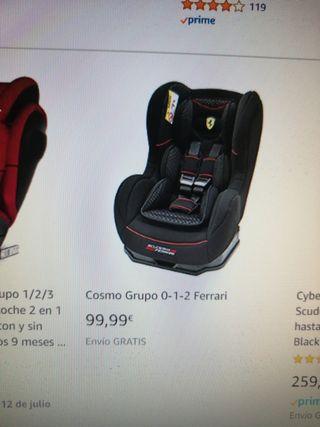 Ferrari silla coche